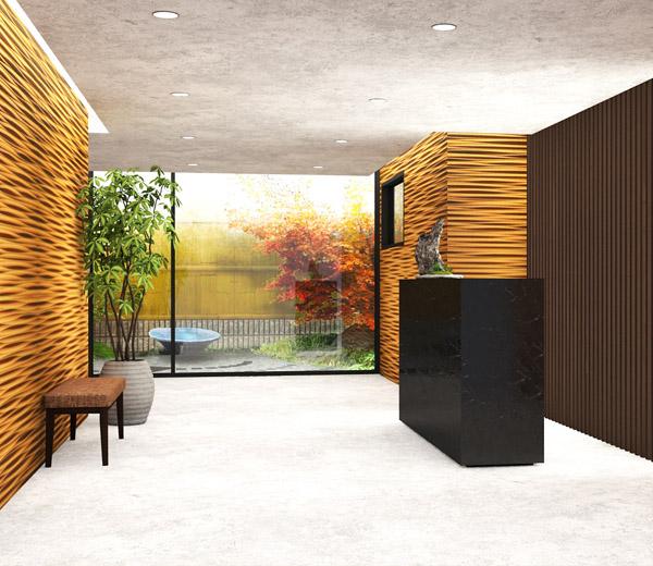 Hotel lobby & room interior