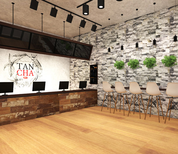 Tapioca tea store interior & exterior